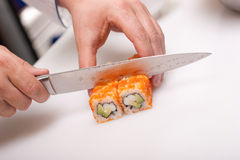 California roll cooking Stock Images