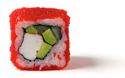 A California roll with a crab meat Royalty Free Stock Images
