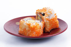 California Roll Maki Sushi with Masago Royalty Free Stock Photography