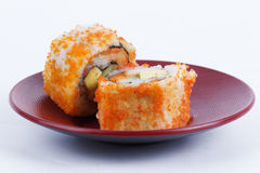 California Roll Maki Sushi with Masago Royalty Free Stock Photo