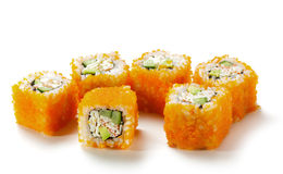 California Roll with Masago Stock Image