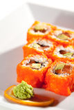California Roll with Masago Royalty Free Stock Photography