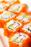 California Roll with Masago Stock Photography