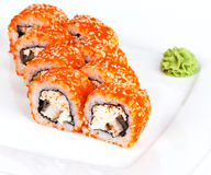 California roll on a plate Royalty Free Stock Photography