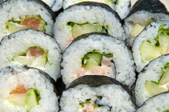 California roll sushi. Close-up of California roll sushi royalty free stock images