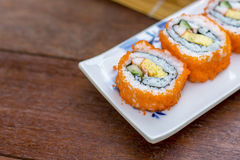 California roll sushi maki Royalty Free Stock Photos