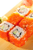 California Roll with Tobiko Royalty Free Stock Photography