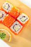 California Roll with Tobiko Stock Photography