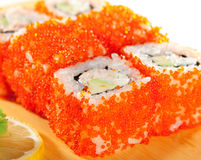 California Roll with Tobiko Royalty Free Stock Photo
