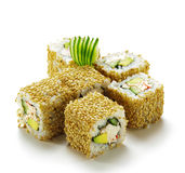 California Roll With Sesame Royalty Free Stock Photography
