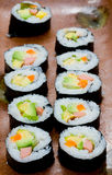 California rolls Stock Photos