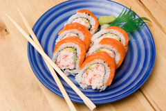 California Rolls Fotografia Stock