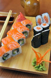 California rolls , maki sushi Royalty Free Stock Photography