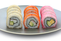 California rolls , maki sushi , japanese food Royalty Free Stock Photos