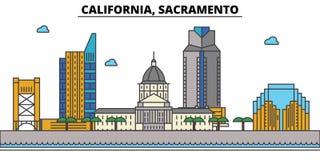 California, Sacramento.City skyline   Royalty Free Stock Image