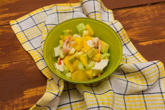 California salad with shrimp and crab Stock Photography