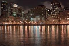 California San Franciscan Night. Night photography of San Francisco Embacadero stock images