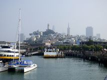 California San Francisco, Pier 39 and view of the city royalty free stock photo