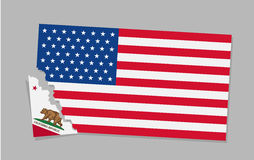 California is secede From USA. Royalty Free Stock Photo