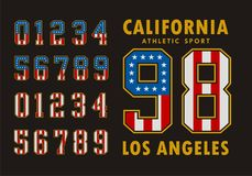 California Set Number Flag USA Typography design. Vector Image Royalty Free Stock Image