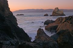 California shoreline Royalty Free Stock Photography
