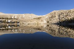 California Sierra Nevada Wilderness Lake Above the Tree Line Royalty Free Stock Image
