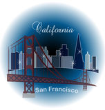 California skyline buildings Royalty Free Stock Image