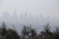 California smog. Far shot of California city smog Stock Image