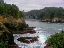 Russian Gulch Arch Bridge stock image