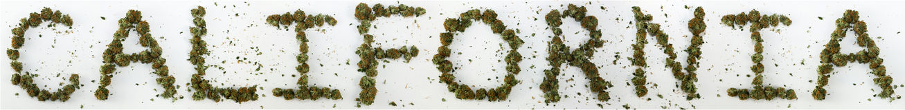 California Spelled With Marijuana. The word California spelled out with real marijuana royalty free stock image