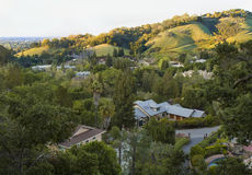 California spring green hills before sunset Royalty Free Stock Images
