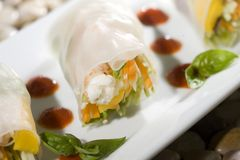 California Spring Rolls Stock Image