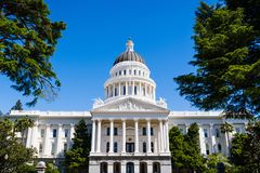 California State Capitol building, Sacramento. Exterior view of California State Capitol building, Sacramento, California royalty free stock photo