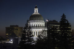 California State Capitol Dome at Night Stock Photography
