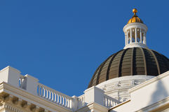 California State Capitol Dome and roof railing Royalty Free Stock Photos
