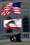 California State Capitol Flags Royalty Free Stock Photography
