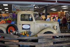 California State Fair at Cal Expo. Sacramento, California, U.S.A. 23 July 2017. Antique Ford Truck displayed the California State Fair at Cal Expo. The fair is Stock Photography