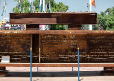 California State Fair at Cal Expo. Sacramento, California, U.S.A. 23 July 2017. Steel beam extracted from the World Trade Center on display at the California Stock Photos