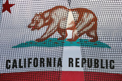 California State Flag with net over it Stock Image