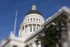California State House and Capitol Building, Sacramento. California State House and Capitol Building in Sacramento, California, USA with selective focus Stock Photography