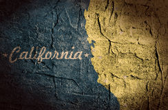 California state map Royalty Free Stock Photos