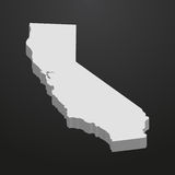 California State map in gray on a black background 3d Stock Photo