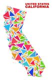 California State Map - Mosaic of Color Triangles royalty free illustration