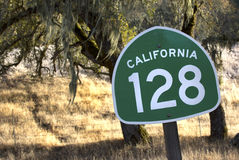 California State Route 128 Through Northern California Wine Coun Royalty Free Stock Photography