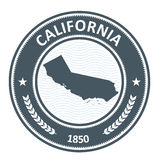 California state silhouette - stamp Stock Image