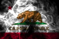California state smoke flag, United States Of America.  royalty free illustration