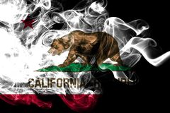 California state smoke flag, United States Of America.  royalty free stock photography