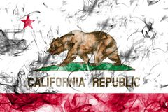 California state smoke flag, United States Of America.  stock image