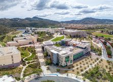 California State University, San Marcos. From the air stock photo