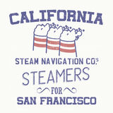 California steamers Royalty Free Stock Photos